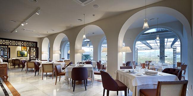 Montaje planta baja del restaurante Abades Ronda