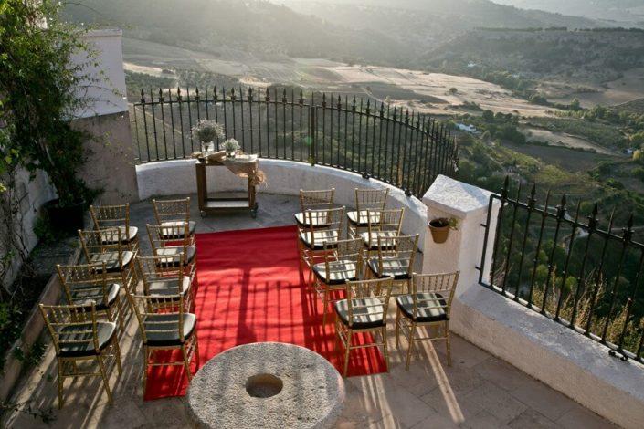 Ejemplo de altar para celebración de bodas