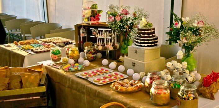 Candy Bar para celebración de boda en Abades Ronda