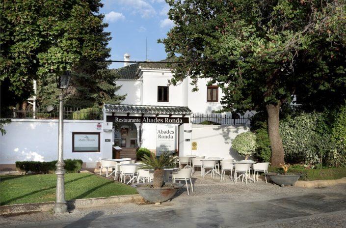 Entrada al restaurante dede la Plaza de toros de Ronda