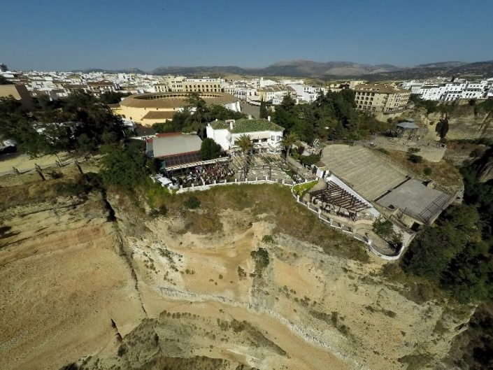 Vista de Abades Ronda desde el cielo