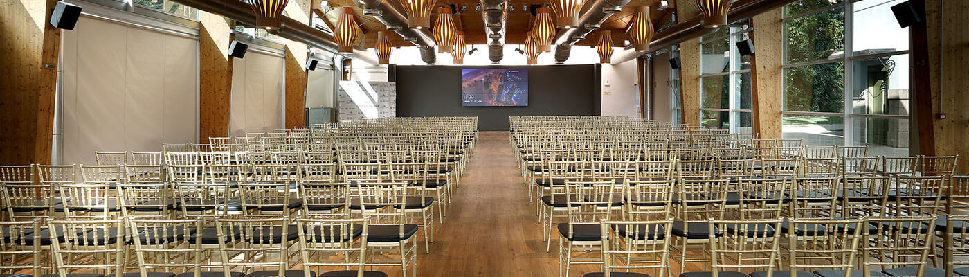 Montaje para congreso en Abades Ronda