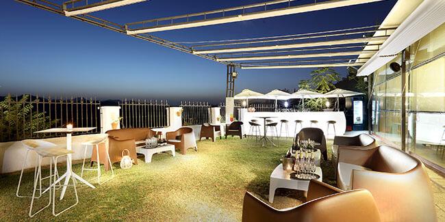 Terraza Mirador del restaurante Abades Ronda