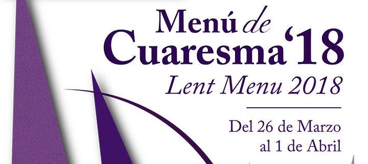 Foto promocional para el menú de cuaresma de Abades Ronda