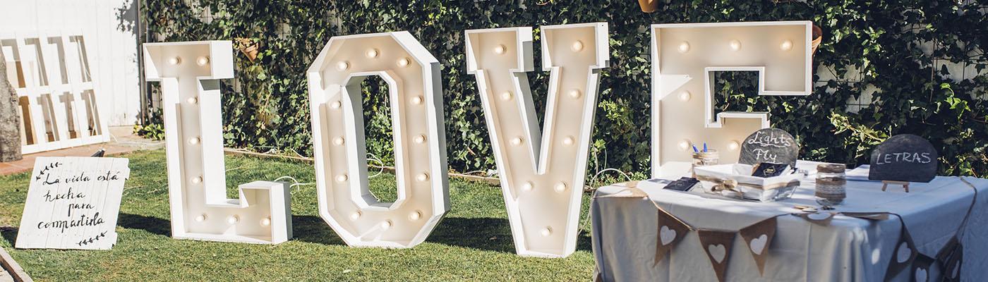 Decoración para boda en Ronda